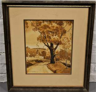 Earl Nutting Autumn Watercolor Painting