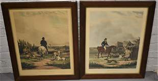 Pair of 19th Century English Colored Lithographs
