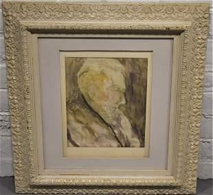 Philip Brown Watercolor Portrait Painting