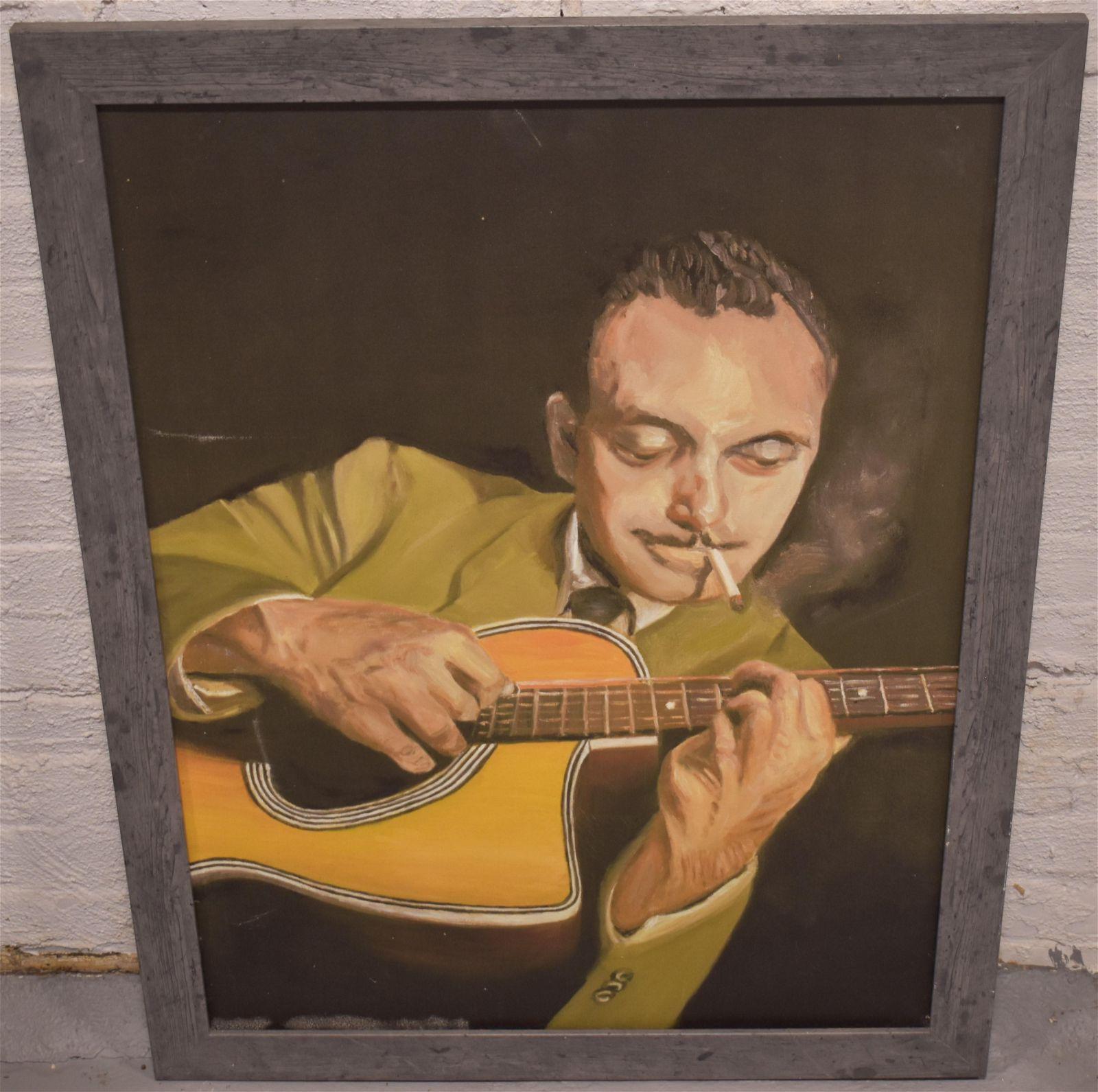 Oil Canvas of Django Reinhardt