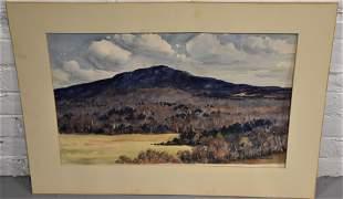 William MacRobbie Watercolor of Mt. Monadnock