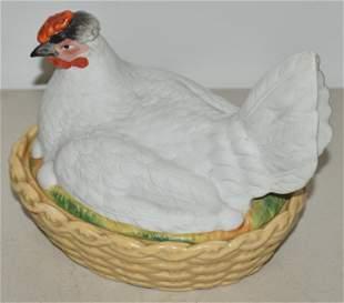 Staffordshire Hen on Nest