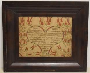 19th Century Pennsylvania Dutch Fraktur