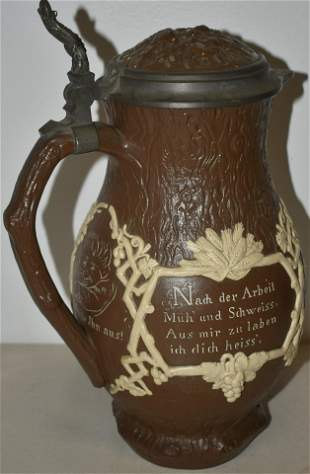 Villeroy and Boch Mettlach Relief Pitcher