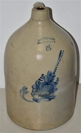 5 Gallon Decorated Stoneware Jug