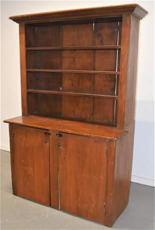 N.E. Pine Stepback Cupboard