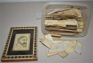 Miniature Carved Portrait and Piano Keys