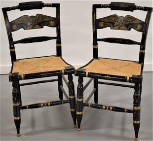 Pair Ethan Allen Hitchcock Chairs
