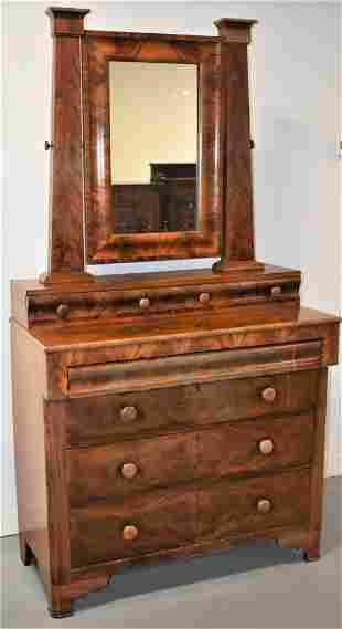Empire Mahogany Chest with Mirror
