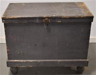 19th Century Painted Ice Chest