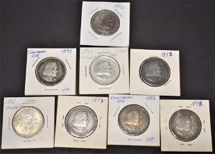 8 U.S. Columbian Exposition Half Dollars