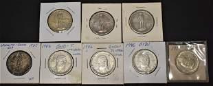 8 U.S. Silver Commemorative Half Dollars