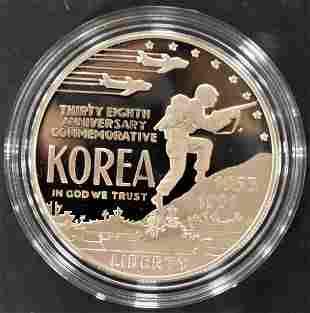 1991-P 90% Silver Proof Korean War Mem. Coin