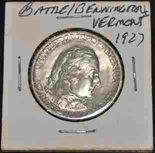 1927 U.S. Silver Battle of Benn. Comm. Half