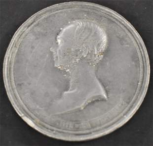 Henry Clay Pewter Medallion