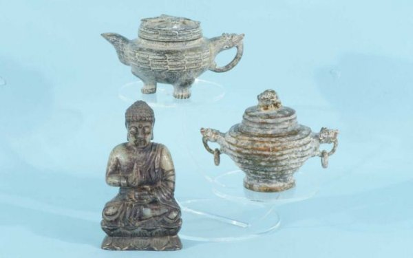 5: LOT OF THREE ANTIQUE CHINESE PIECES