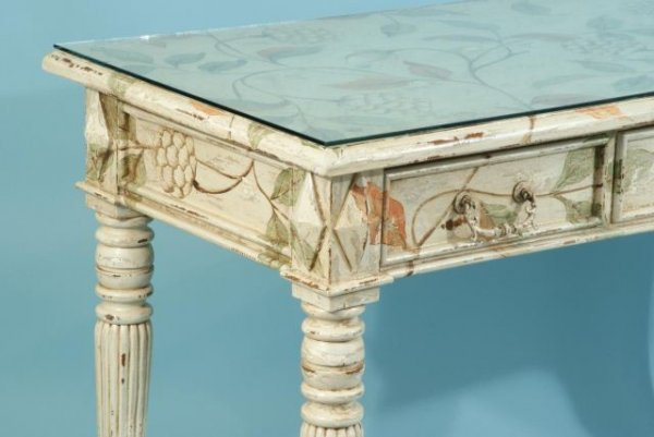16: PAINTED DESK BY GUILDMASTER ADEGORIZE COMPANY