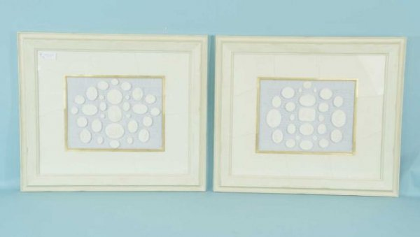 10: GREEK PLASTER RELIEFS MOUNTED ON CALLIGRAPHY PRINT