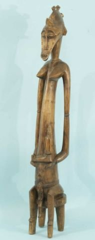 13: SENUFO FEMALE GUARDIAN IVORY COAST FIGURE