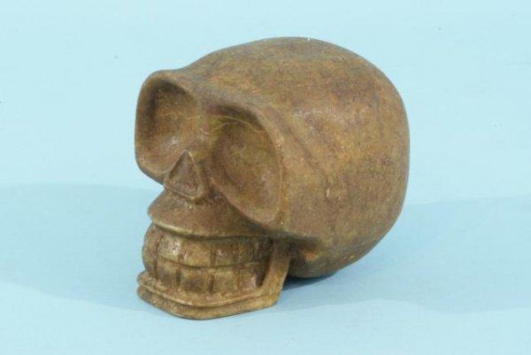 16: ANCIENT LIFESIZE JADE SKULL, CIRCA 300 CENTURY A.D
