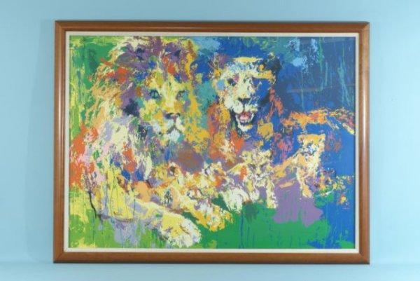 "23: LEROY NEIMAN ""LIONS PRIDE"" LITHOGRAPH #63/300"