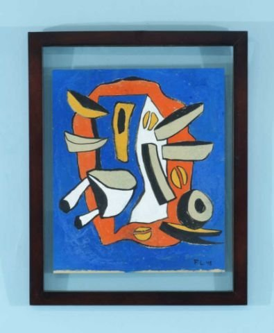 "120: FERNAND LEGER ""ABSTRACT COMPOSITION"" GOUACHE"