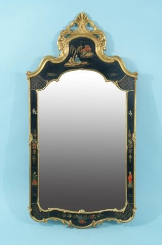 9: CHINOISERIE STYLE GILDED BEVELED MIRROR