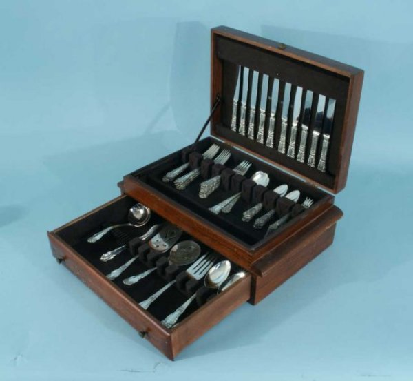 23: 63-PIECE REED & BARTON STERLING SILVER FLATWARE