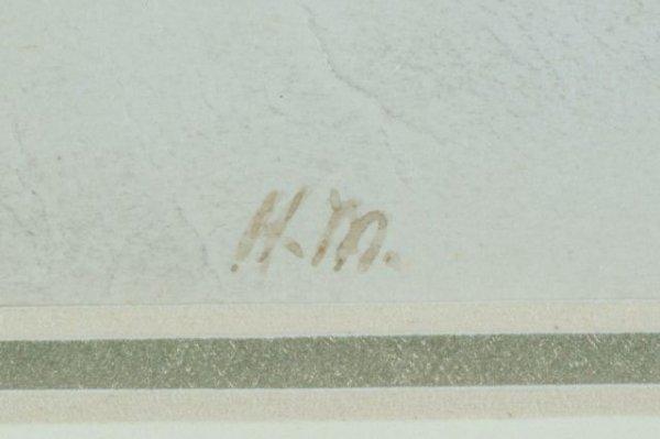 "50C: HENRI MATISSE ""SEASIDE LANDSCAPE"" WATERCOLOR - 6"