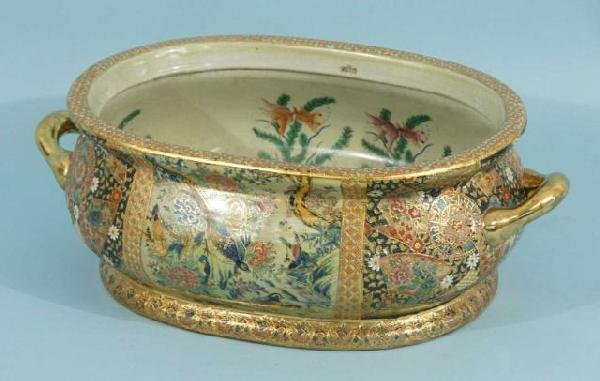 1: CHINESE PORCELAIN FOOT BATH