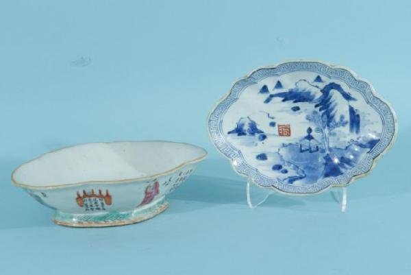 2: TWO ANTIQUE CHINESE SWEETMEAT BOWLS