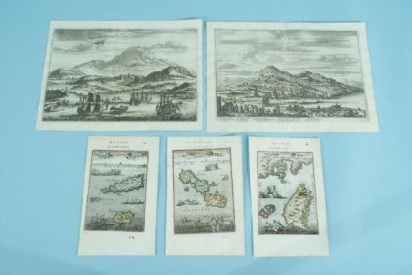 6: LOT OF FIVE ANTIQUE MAPS