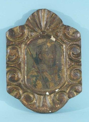 8: PAINTING MOUNTED TO FRAME, CIRCA 18th CENTURY