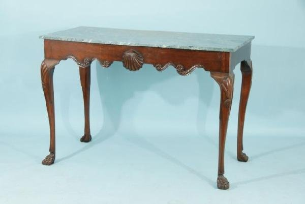 15: IRISH CHIPPENDALE MAHOGANY SERVING TABLE