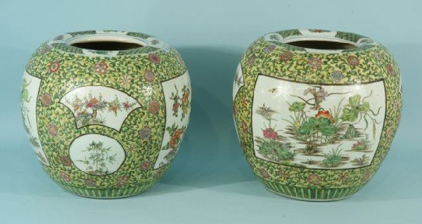10: PAIR OF CHINESE EXPORT PORCELAIN VASES