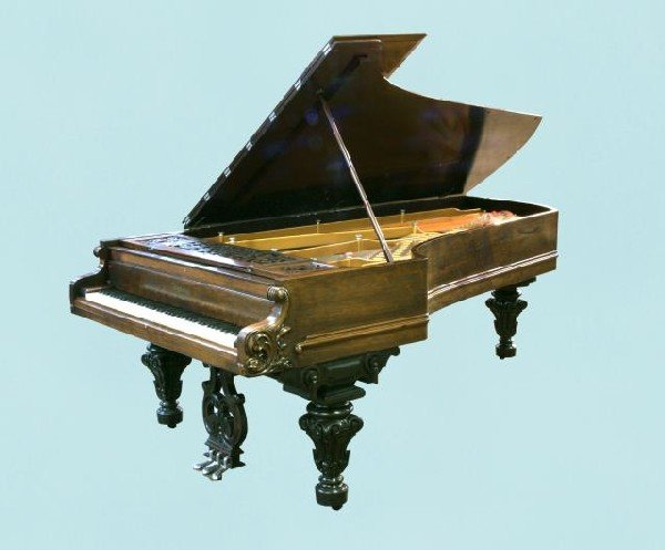 12: ROSEWOOD GRAND PIANO BY CHICKERING