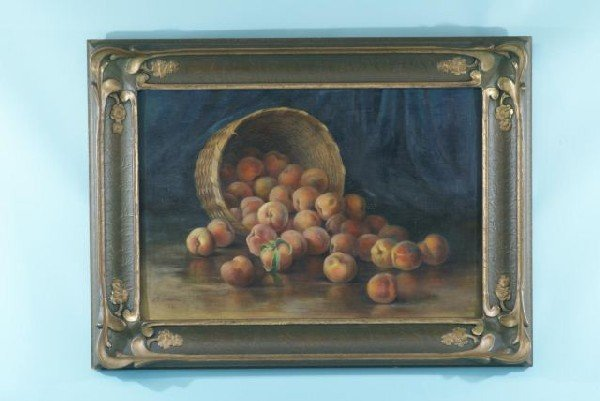 "19: A. C. LAWTON ""STILL LIFE WITH FRUIT"" OIL ON CANVAS"