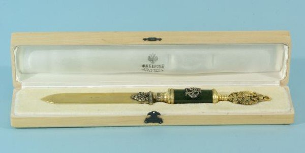 20A: RUSSIAN FABERGE LETTER OPENER