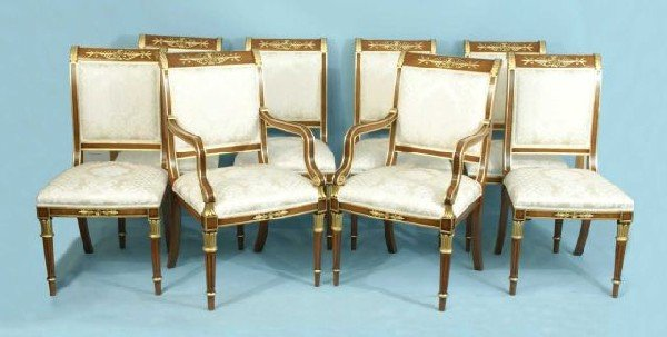 22: 8 WOOD CARVED & GILDED FRENCH TASTE CHAIRS