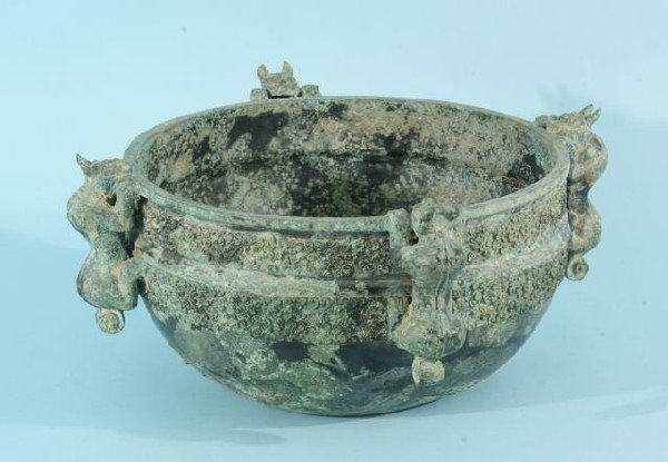 20: ESTIMATED AT 13th CENTURY CHINESE  BRONZE BOWL
