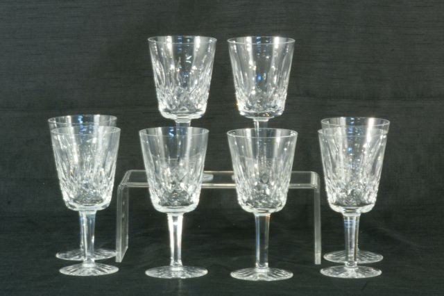3: LOT OF EIGHT WATERFORD CRYSTAL WINE GOBLETS
