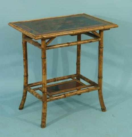 7: BAMBOO CHINOISERIE LAMP TABLE, CIRCA 1900