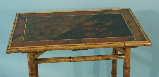 7: BAMBOO CHINOISERIE LAMP TABLE, CIRCA 1900 - 2