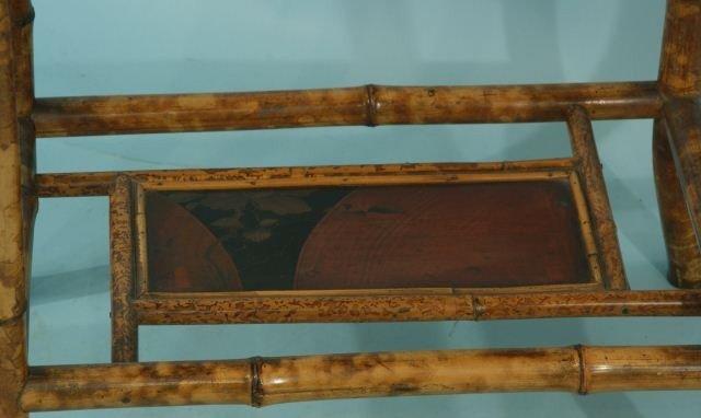 7: BAMBOO CHINOISERIE LAMP TABLE, CIRCA 1900 - 3
