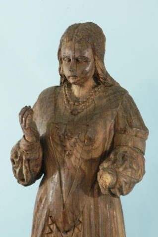 8: 17th CENTURY CARVED WOOD SANTO - 2