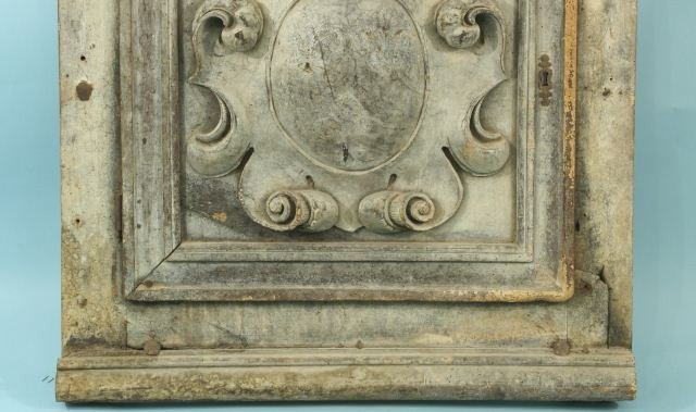 22: ANTIQUE CARVED WOOD ARCHITECTURAL PLAQUE - 3