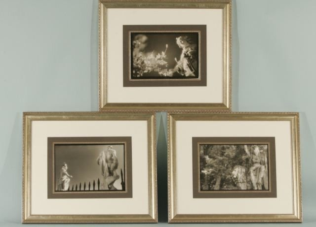 1: GROUP OF THREE PENCIL SIGNED PHOTOGRAPHS