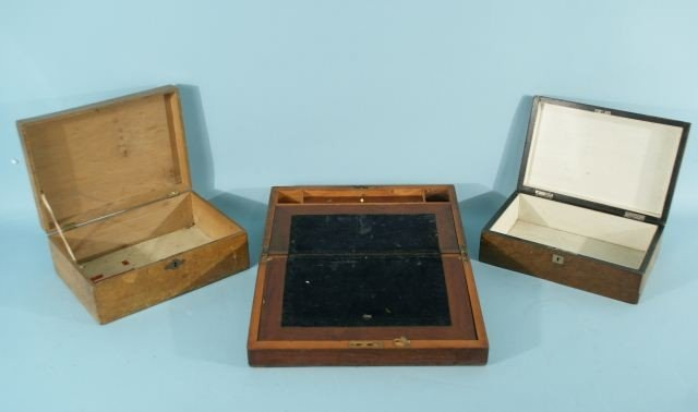 20D: TWO HUMIDORS AND ONE LAP DESK