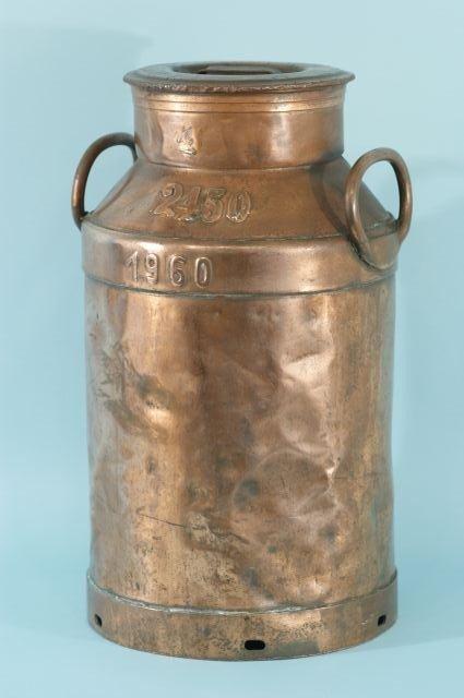 2: VINTAGE COPPER MILK CAN, CIRCA 1960's