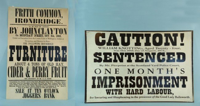 9: TWO VINTAGE NOTICE AND ADVERTISING METAL POSTERS